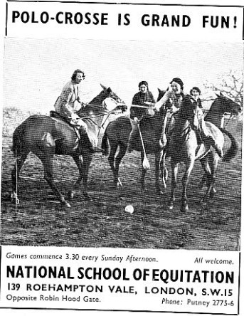 National School of Equitation Polocrosse Advert